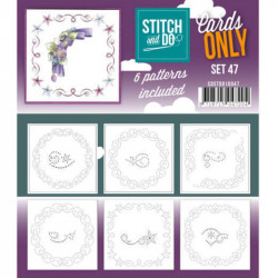 Cartes seules Stitch and do - Set n°47