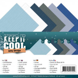 Set 24 cartes carrées Keep it cool 13.5x27cm