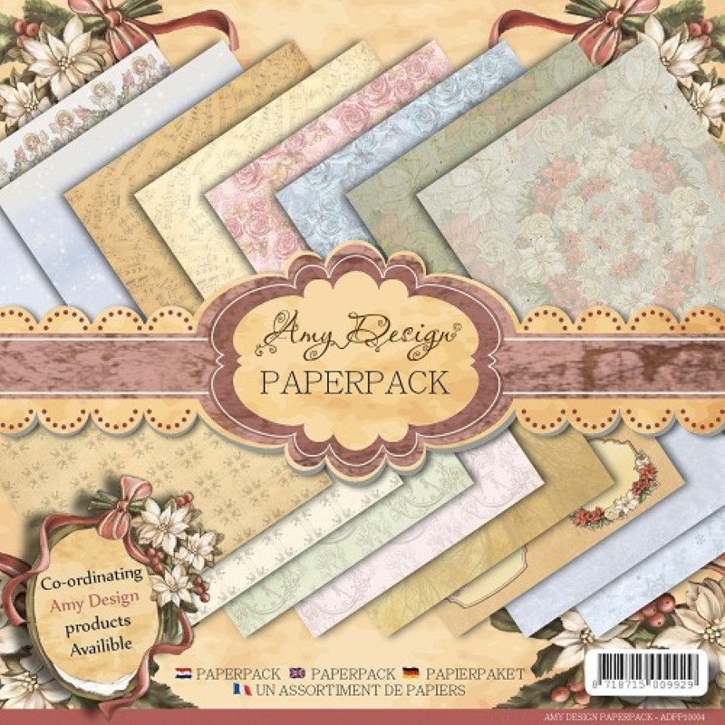 Paperpack 170g Merry and Bright Christmas Precious Marieke 15,2 x 15,2cm