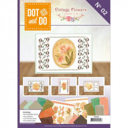Dot and do Livre n°2 - Kit Carte 3D - Vintage flowers