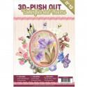 Carte 3D livre A4 prédécoupé - Fleurs et papillons 24 images + papiers