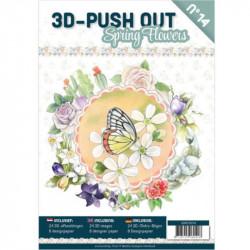 Carte 3D livre A4 prédécoupé - Fleurs de printemps 24 images + papiers