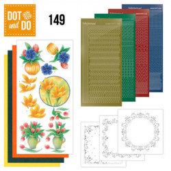 Dot and do 149 - kit Carte 3D - Bouquets de fleurs