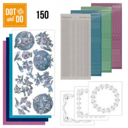 Dot and do 150 - kit Carte 3D - Oiseaux en mauve