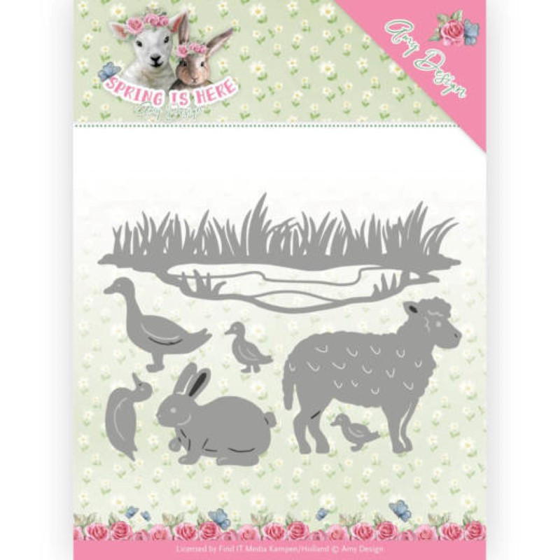 Die - amy design - Spring is here - Animaux 9.6x12.8 cm