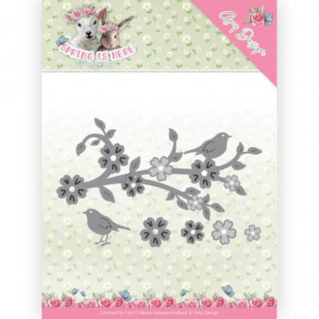 Die - ADD10171 - Spring is here - Branche fleurie 11.7x6.6 cm
