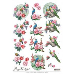 Carte 3D à découper -  amy design oriental - oiseaux