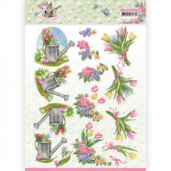 Carte 3D à découper - Spring is here - Tulipes - Amy Design