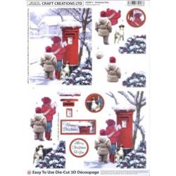 Carterie 3D A4 Prédécoupée - DCD 611 - Enfant Lettre Noël