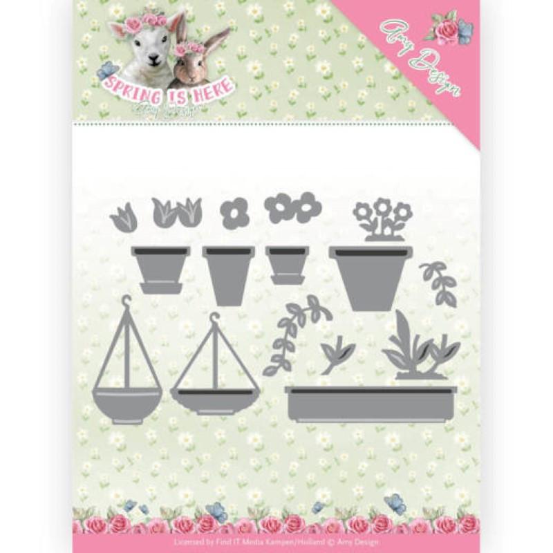 Die - amy design - Spring is here - Pots de fleurs 10x6.3 cm