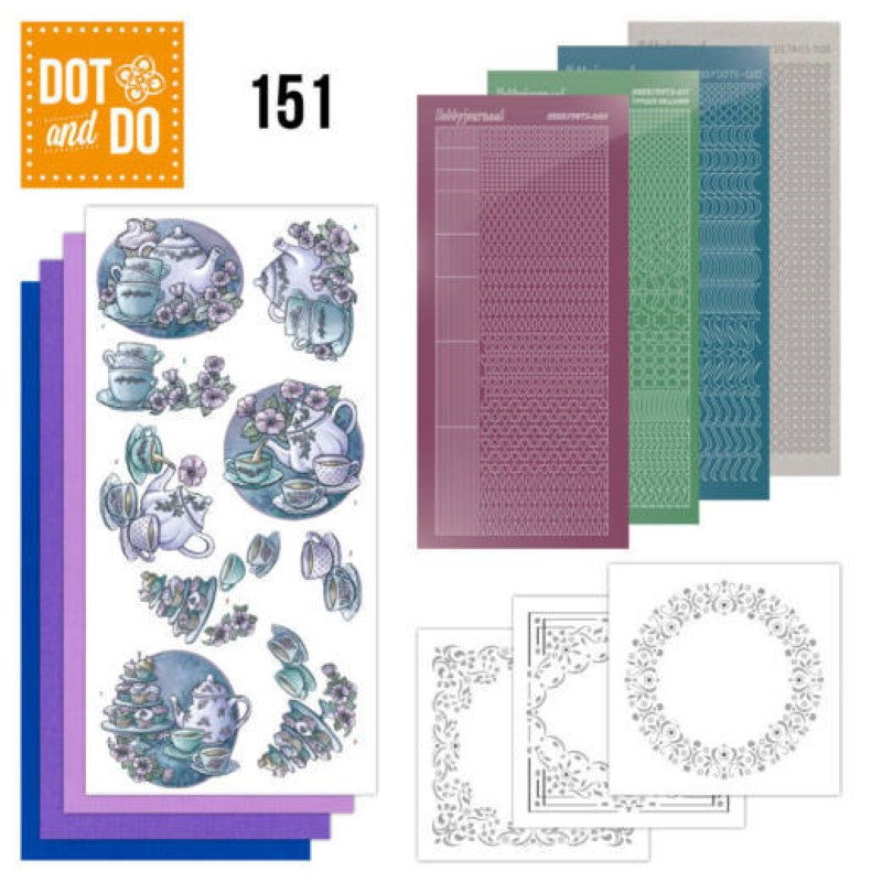 Dot and do 151 - kit Carte 3D - L'heure du thé