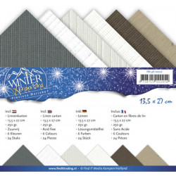 Set 24 cartes Winter Wonderland 13.5x27cm