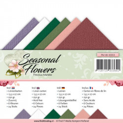 Set 24 cartes Seasonal flowers 13.5x27cm