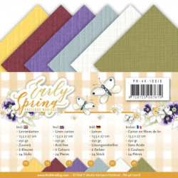 Set 24 cartes Early spring 13.5x27cm