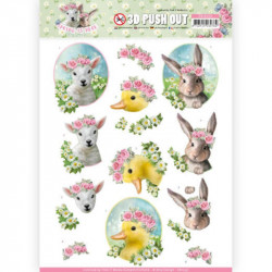 Carte 3D prédéc. - Amy design - Spring is here - Bébés animaux - SB10331