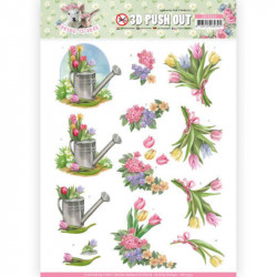 Carte 3D prédéc. - Amy design - Spring is here - Tulipes - SB10332
