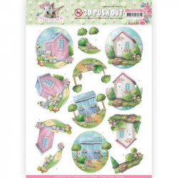 Carte 3D prédéc. - Amy design - Spring is here - Cabanes de jardin - SB10334