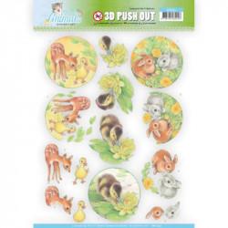 Carte 3D prédéc. - Jeannine's Art - Young animals - Lapins et canetons  - SB10335