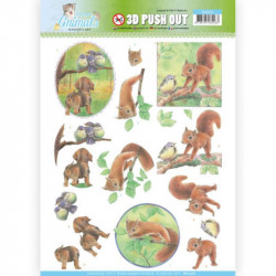 Carte 3D prédéc. - Jeannine's Art - Young animals - Ecureuils  - SB10336