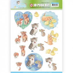 Carte 3D prédéc. - Jeannine's Art - Young animals - Chatons - SB10337