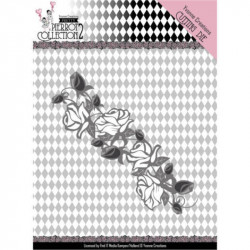 Dies - Yvonne Creations - Pretty Pierrot 2 - Bordure de roses