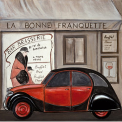 Image 3D - ncn 4965 - 30x30 - 2 CV La bonne Franquette