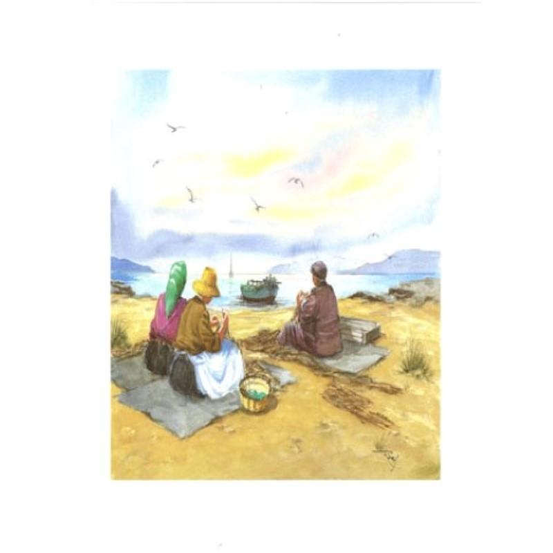 Image pour tableaux 3D - VENEZIA 230 - 24X30 - 3 PERSONNES A LA PLAGE - Aux Bleuets Loisirs créatifs à Reims