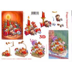 Carte 3D à découper -  Noël - 416901