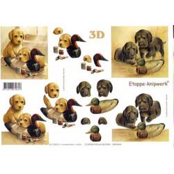 Carte 3D à découper - Chiots et canards - 416926