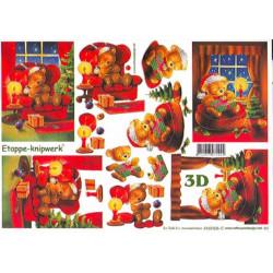 Carte 3D à découper - Ourson dans fauteuil - 4169305