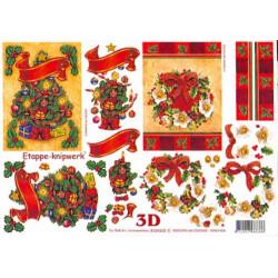 Carte 3D à découper - Sapin et couronne de Noël - 4169335