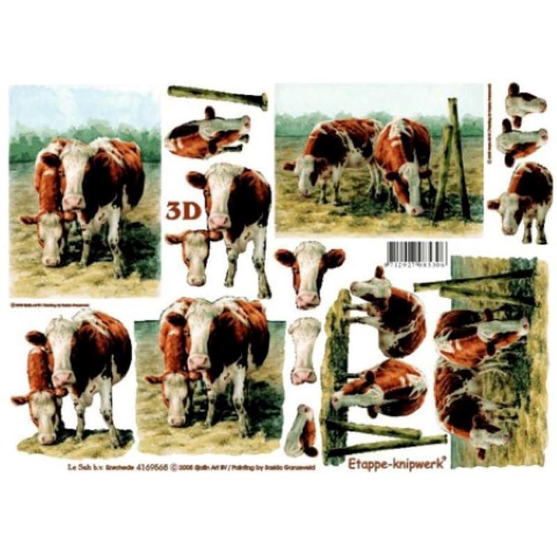 Carte 3D à découper - Vaches dans pré - 4169568