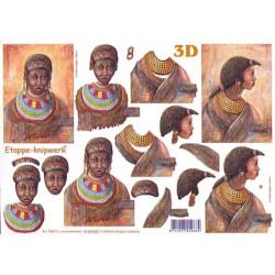 Carterie 3D A4 - Africaine avec bijoux - 4169680