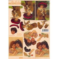 Carterie 3D A4 - Garçon et colombe/fillettes - 4169698