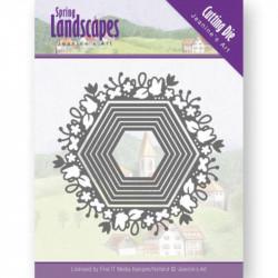 Die - jeaninnes art - Spring Landscapes - Hexagones fleuris