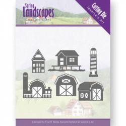 Die - jeaninnes art - Spring Landscapes - Maisons et phare