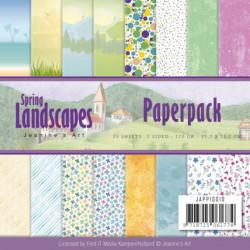 Bloc de papier - jeanine art - Spring Landscape 15.2 x 15.2
