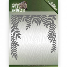 Die - Amy Design - Wild Animals 2 - Cadre Jungle 13x13 cm