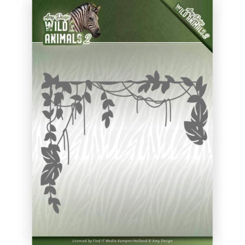 Die - Amy Design - Wild Animals 2 - Branche Jungle 13.2x13 cm - ADD10173