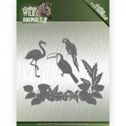 Die - Amy Design - Wild Animals 2 - Oiseaux tropicaux 13x11 cm - ADD10174