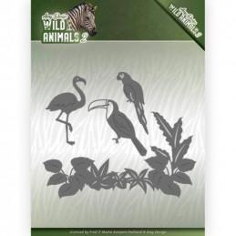 Die - Amy Design - Wild Animals 2 - Oiseaux tropicaux 13x11 cm - ADD10174