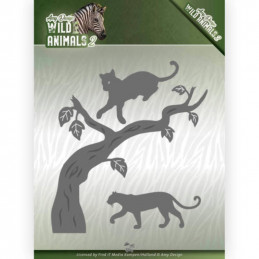Die - Amy Design - Wild Animals 2 - Panthère 10.5x11.5 cm - add10175