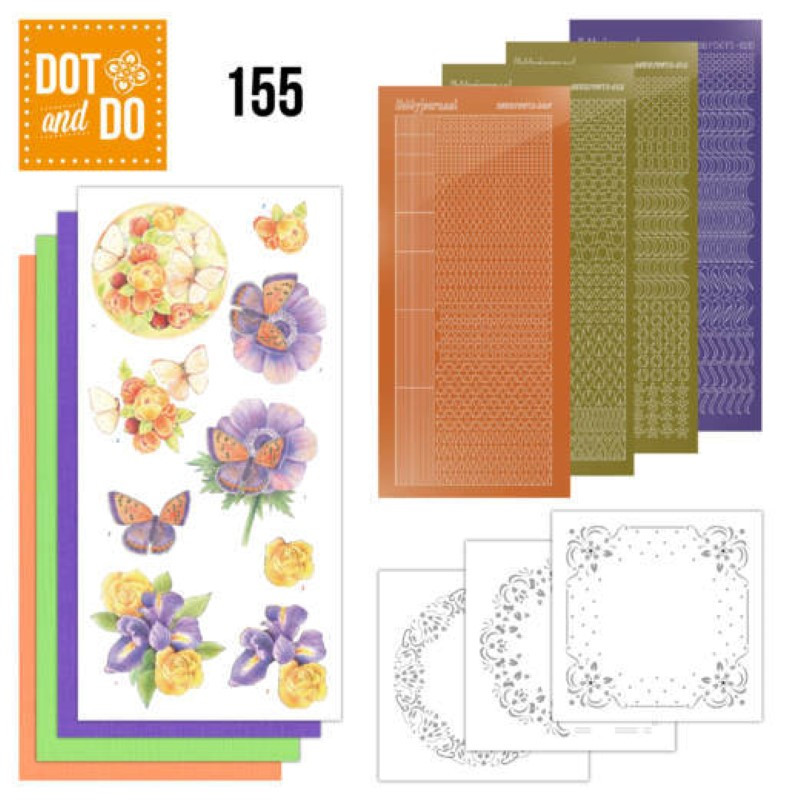Dot and do 155 - kit Carte 3D  - Fleurs délicieuses