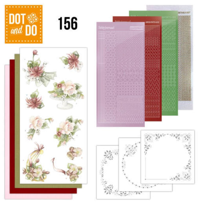 Dot and do 156 - kit Carte 3D  - Fleurs d'été