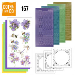 Dot and do 157 - kit Carte 3D  - Abeilles et libellules