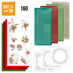 Dot and do 160 - kit Carte 3D  - Décorations Noël rouge