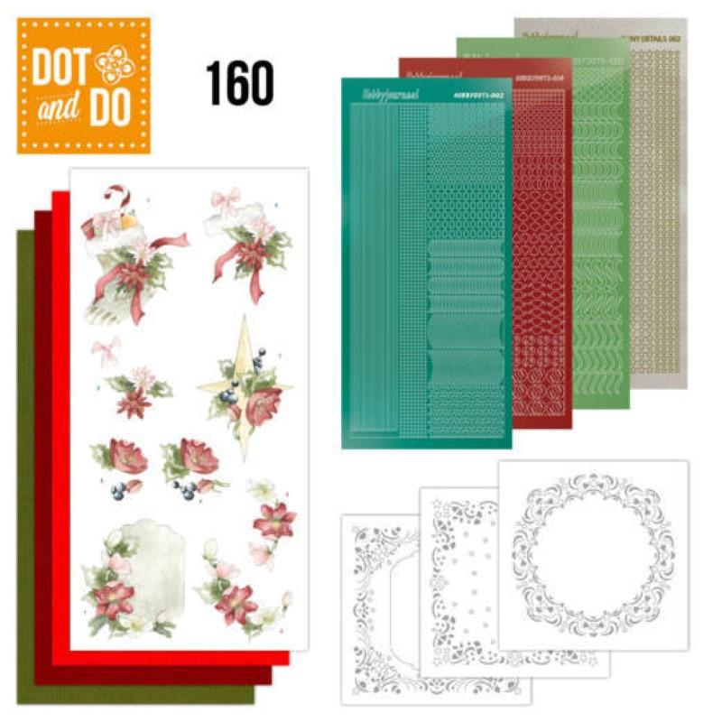 Dot and do 160 - kit Carte 3D  - Décorations Noël rouge