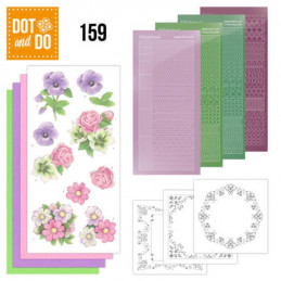 Dot and do 159 - kit Carte 3D  - Fleurs d'été