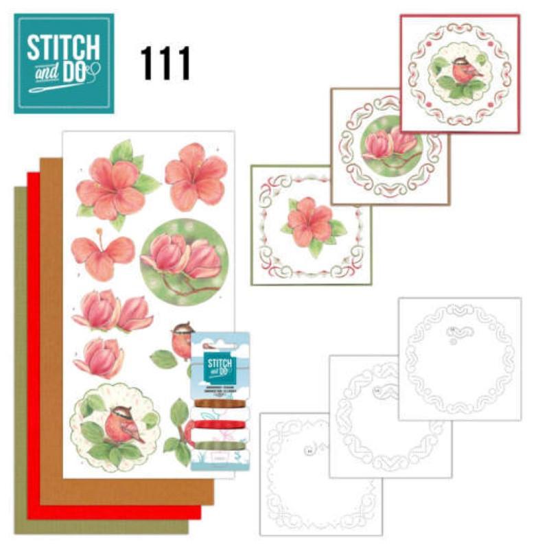 Stitch and do 111 - kit Carte 3D broderie - Beauté de la nature
