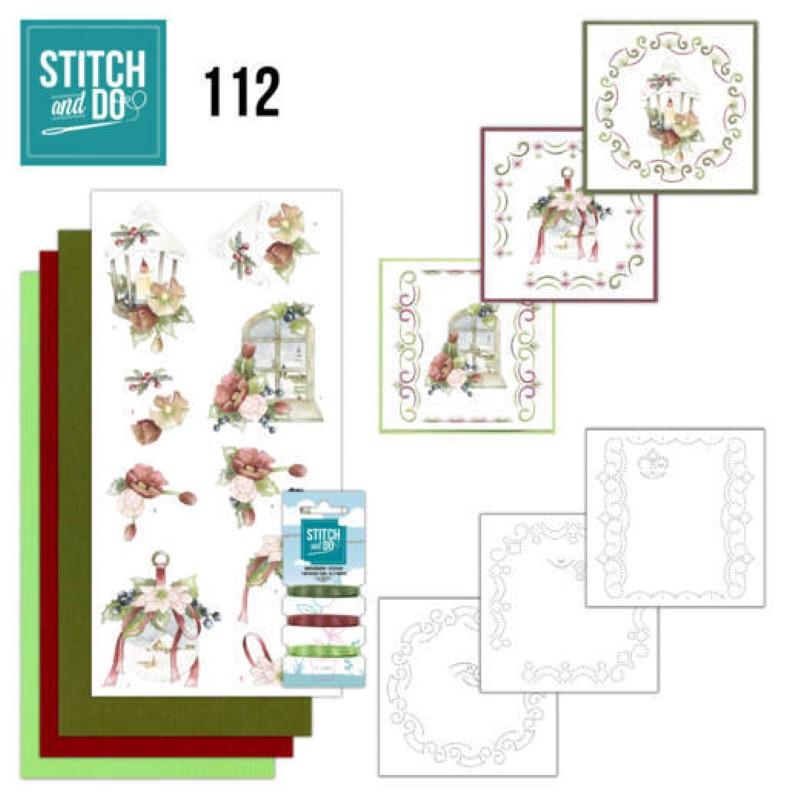 Stitch and do 112 - kit Carte 3D broderie - Sentiments de Noël chaleureux